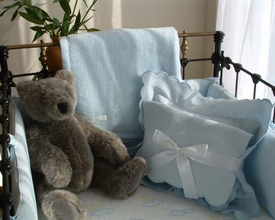 one fine day fitted crib sheet by Sweet William