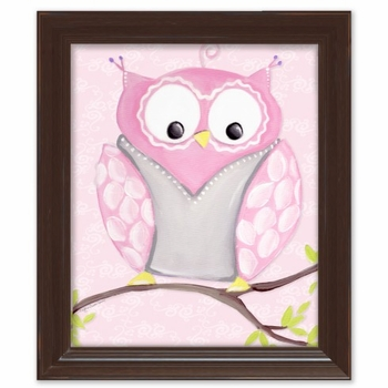 opal owl wall art