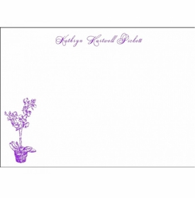 orchid social stationery