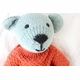 organic cotton hand knit bear