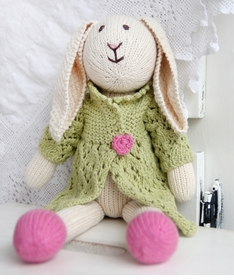 organic cotton hand knit bunny