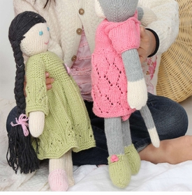 organic cotton hand knit doll - ava