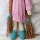 organic cotton hand knit doll - sadie