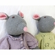 organic cotton hand knit mouse