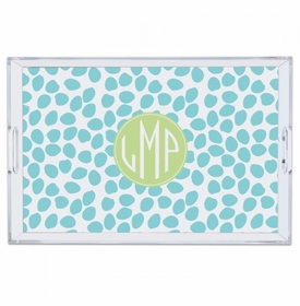 Organic Dots Aqua Large Tray