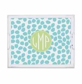 Organic Dots Aqua Small Tray