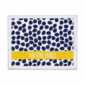 Organic Dots Deep Navy Small Tray