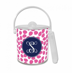 Organic Dots Hot Pink Ice Bucket