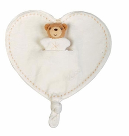organic naturel teddy bear heart