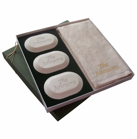 original luxury personalized soap gift set: name
