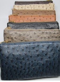 ostrich cross body clutch<br>(additional colors available)
