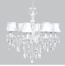 pageant chandelier - white petal flower shades