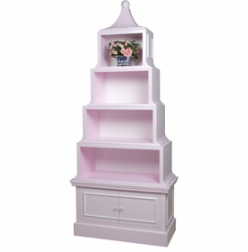 Pagoda Bookcase Pink And Snow
