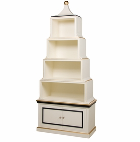 Pagoda Bookcase White And Navy