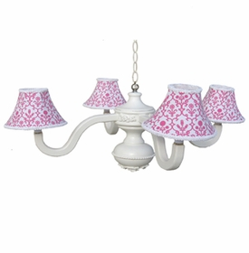 paigy pink bella spindle chandelier