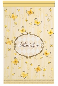 papillon riche jaune dor� personalized wall hanging