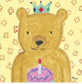 party bear wall art canvas reproduction
