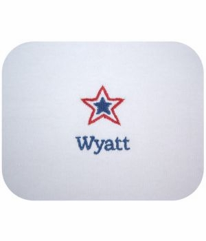 patriotic personalized burp cloths-set of three