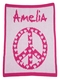 peace and hearts stroller blanket