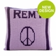peace sign and name pillow