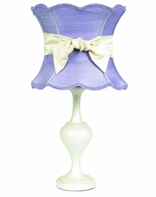 pearl curvature lamp with lavender shade