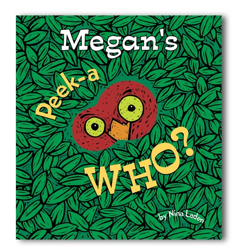 peek a who personalized board book featured at