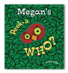 peek a who - personalized board book