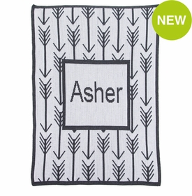 personalised arrows & arrows blanket