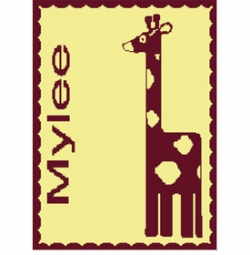 personalised giraffe blanket