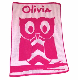 personalised owl blanket