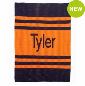 personalised pin stripes blanket