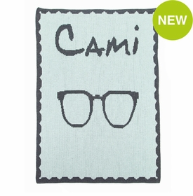 personalised single sunglasses blanket