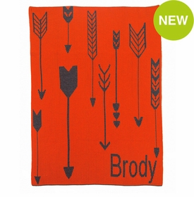 personalised tribal arrows blanket