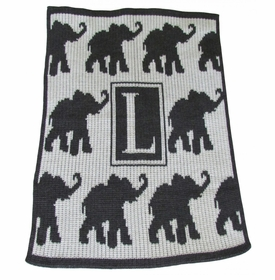 personalised walking elephants blanket