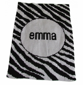 personalised zebra stripe blanket