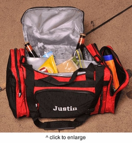 personalized 2 in 1 cooler duffle