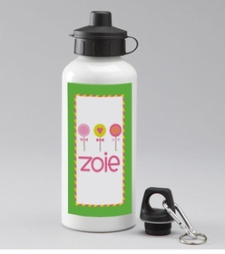 personalized 3-lollipops water bottle