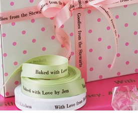 "personalized 5/8"" satin ribbon - 36 colors"