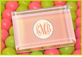personalized acrylic paperweight