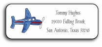 personalized address labels - airplane