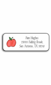 personalized address labels – apples to apples
