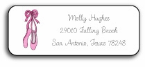 personalized address labels � ballerina girl
