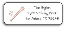 personalized address labels � baseball buff