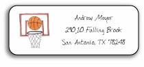 personalized address labels � basketball star