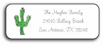 personalized address labels � blooming cactus