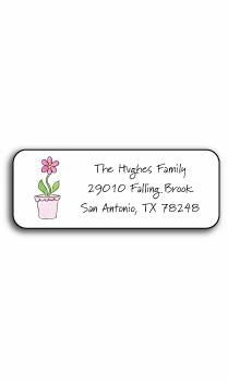 personalized address labels – blooming pink