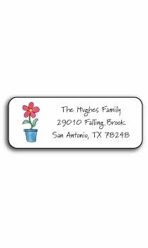 personalized address labels – blooming red