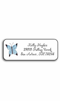 personalized address labels – butterfly garden