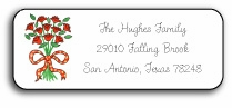 personalized address labels � coming up roses
