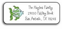 personalized address labels � fish in the sea